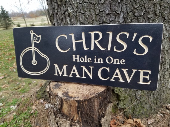 Golf Signs Personalized golf man cave golf decor golf gift for man golf hole wall art golf picture art golf room decor Oak 642