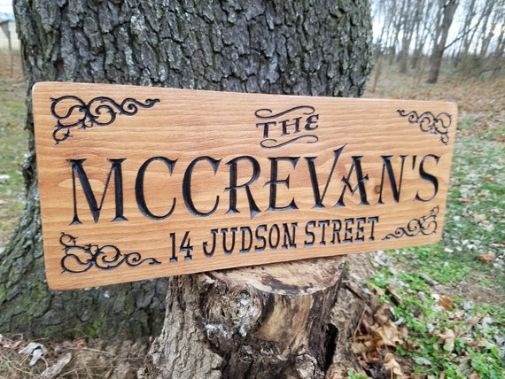 Custom Outdoor Wooden Signs Wooden Signs Personalized Family Name Address Street Address Driveway Sign House Address Home Pine ST19