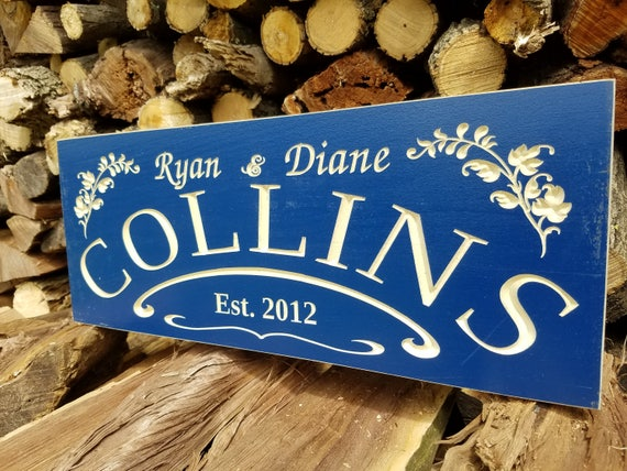 custom wedding wood sign Personalized Wooden Signs Rustic Wedding Sign Engraved Wooded Signs  last name sign  Gift for Couple Hardwood 55