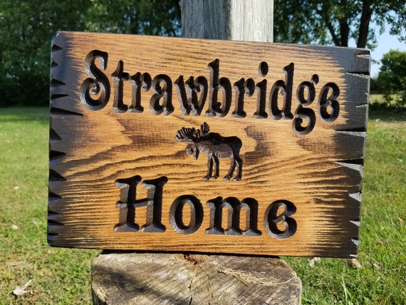 Cabin Sign Last Name Personalized Wooden Carved Rustic Hunting Camp Outdoor Live Edge Wood Look Customized Name Plaques For Cottage Pine 317