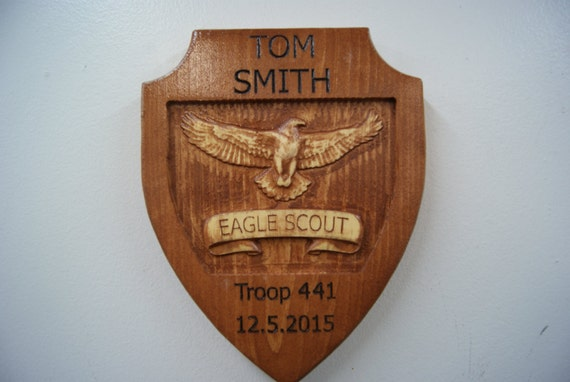 Eagle Scout Wooden Plaque eagle scout award eagle scout gift eagle scout Recognition custom scout gift 7 1/2 x 10 Pine 2300
