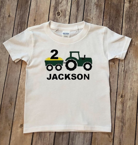 Tractor Birthday Shirt 2nd 3rd