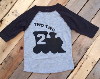 Two Two Train Toddler Shirt - 2nd Birthday Shirt - Two Shirt Toddler - Boys 2nd Birthday - Train Birthday - Train Shirt
