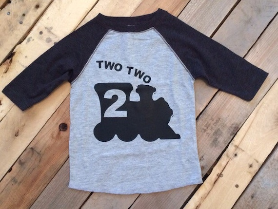 Two Train Toddler Shirt 2nd Birthday