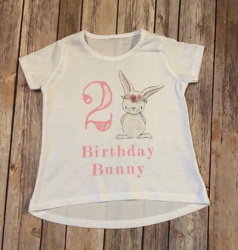 Girls Birthday Bunny Shirt Girl