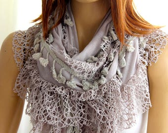 Lace cotton Scarf - Trending items - Gift Ideas - For Her Women Fashion Accessories Summer Scarf Scarves Gift - Summer Scarves- spring shawl