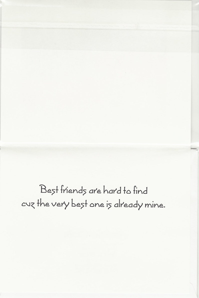 Handmade Greeting Card Laser printed Friend