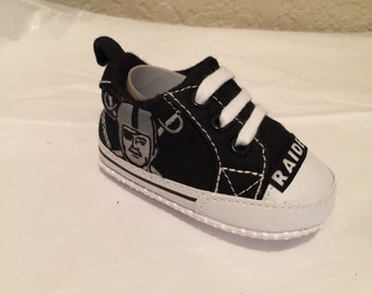 Loley pops newest creation raiders baby shoes - this creation is made by me  and not affiliated with NFL 8f6f91ffe