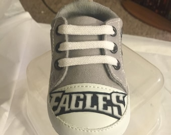 Loley pops newest creations Eagles baby shoes - this creation is made by me  and not affiliated with NFL 1532ecc85