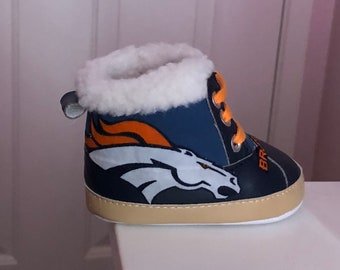 Loley pops newest creation Broncos baby boots - this creation is made by me  and not affiliated with NFL e057e9c8c