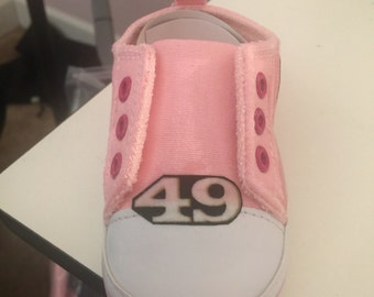 Loley pops creations Pink 49ers shoes - this creation is made by me and not  affiliated with NFL d67ce9139