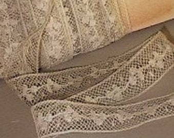 per 1 yard lace antique french valenciennes insertion trim edging prim rustic - Prim Garden