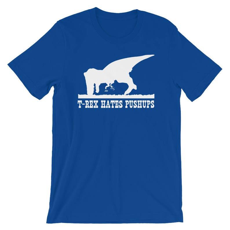 fe4d007b T-Rex Hates Pushups T-Shirt Funny Dinosaur Shirt Unisex | Etsy