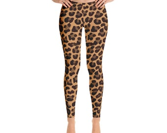 8a27b47422c87a Leopard Print Yoga Pants - Yoga Leggings - Workout clothes - Womens  Sportswear - Capri Yoga Leggings - Printed Leggings - Workout Leggings