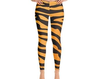 2d48efee975500 Tiger Stripes Yoga Pants - Yoga Leggings - Workout clothes - Womens  Sportswear - Capri Yoga Leggings - Printed Leggings - Workout Leggings