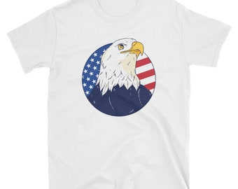 cc8332dc Eagle Head American Flag Shirt 4th of July t-shirt for Men Women -  Independence Day Shirt Patriotic Tee - Fourth of july merica shirt