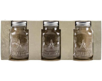 Tim Holtz Idea-Ology Mini Glass Mason Jars 3/Pkg TH93202