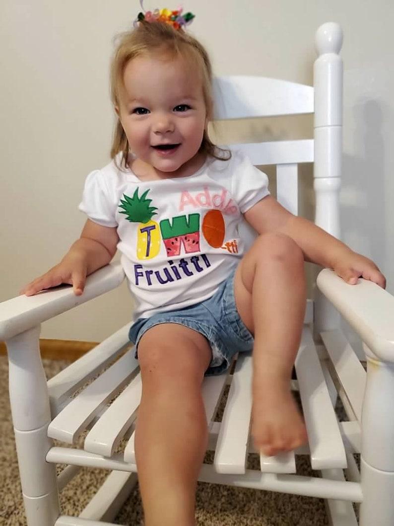 Summer Birthday 2nd Birthday Two-tti Frutti Birthday Cutie Shirt,Personalized Two-tti Fruity Birthday Shirt Tutti Frutti Birthday