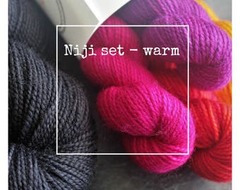 Niji Set (Warm Palette) for Susanna IC's pattern, Niji
