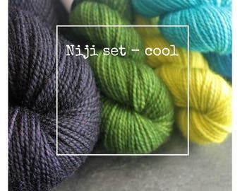Niji Set (Cool Palette) for Susanna IC's pattern, Niji