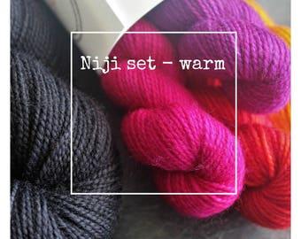 Niji Set (Warm Palette) for Susanna IC's pattern, Niji