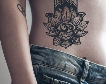 Om Tattoo Etsy