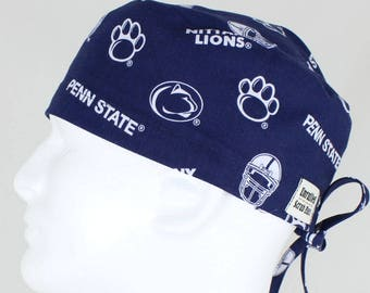 on sale 6083b a4114 ... reduced surgical regular tie back scrub hat for men penn state nittany  lions all over eebf6