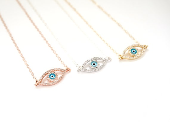 Evil Eye Necklace Blue Eye Necklace Gold Evil Eye Necklace  91a415398f