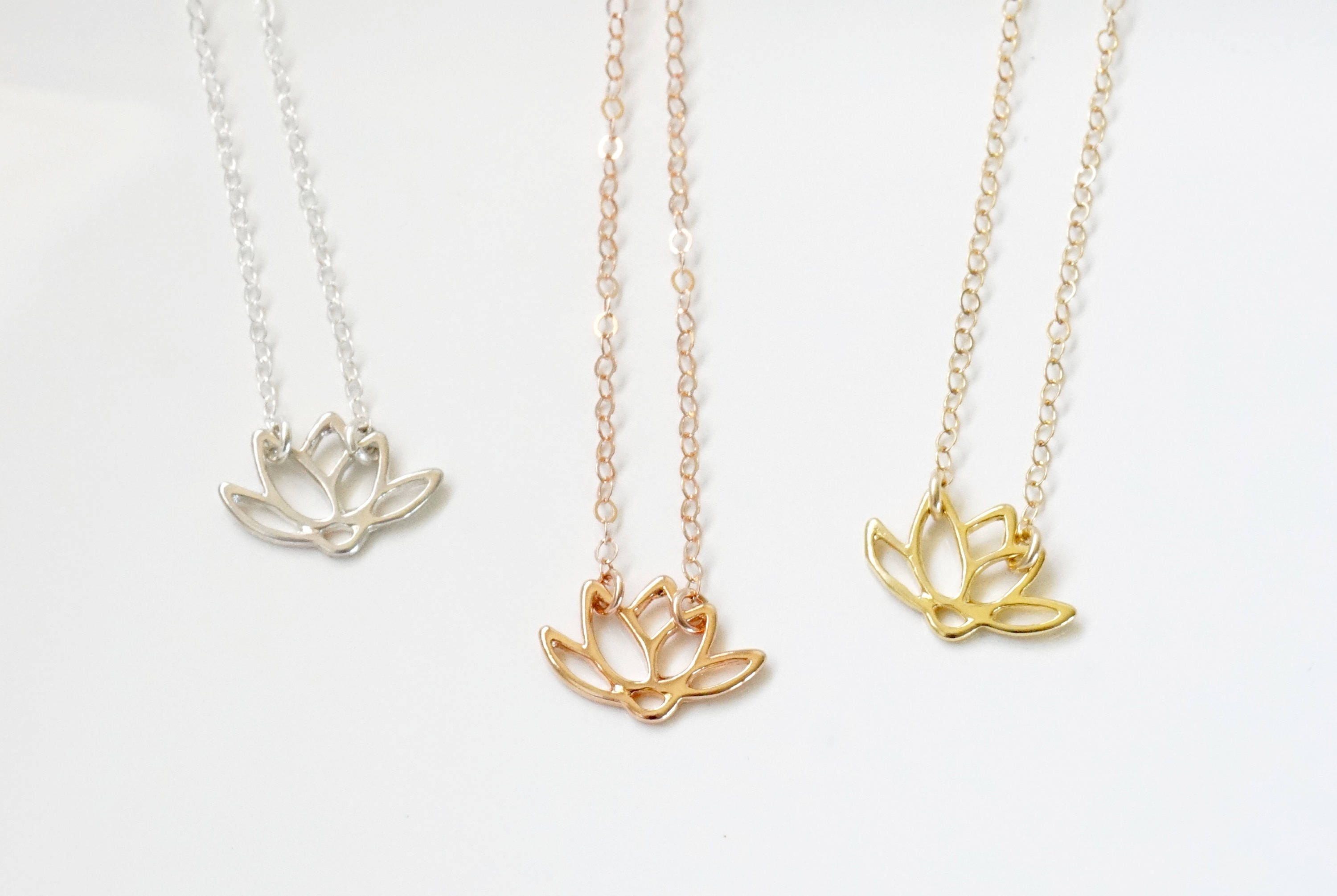 Lotus Flower Necklace Lotus Flower Choker Gold Lotus Flower