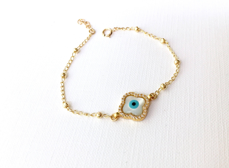 31d97884f8e6a Evil Eye Bracelet Gold Beaded Evil Eye Bracelet Dainty