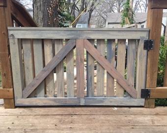 Barn Door Baby Gate, Outdoor Deck Gate, Rustic Weathered Distressed Custom Barn Door Outdoor door custom baby gate