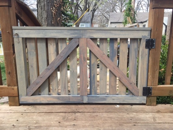 Items Similar To Barn Door Baby Gate Outdoor Deck Gate