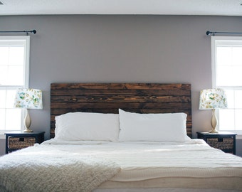Rustic White King Size Headboard Floating headboard