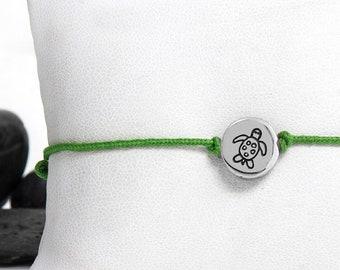 Silver Turtle, Turtle Jewelry, Sea Turtle, Turtle Bracelet, Beach Jewelry, Sterling Silver, Turtle Charm, Friendship Bracelet, Christmas
