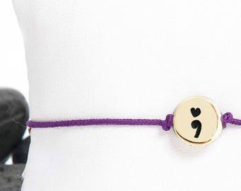 Heart Semicolon Friendship Bracelet