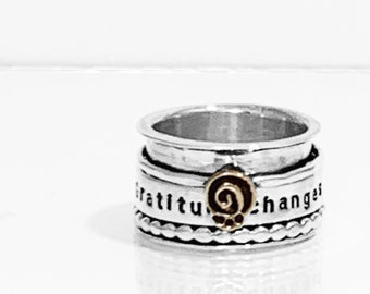 Gratitude Changes Everything Spinner Ring
