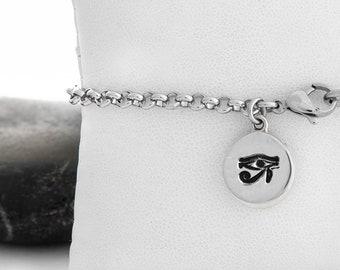 Eye of Horus Chain Charm Bracelet