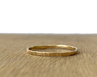 Ripple Hammered Stacking Bands