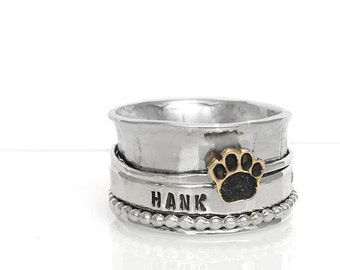 Pet Memorial Spinner ring Aluminum Base