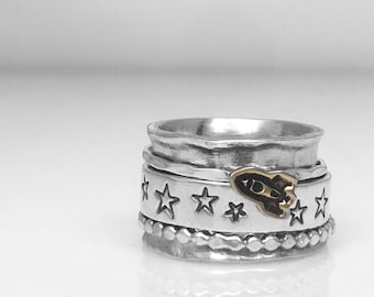 Rocketship Spinner Ring