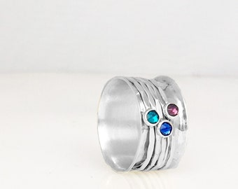 Swarovski Crystal Spin Ring