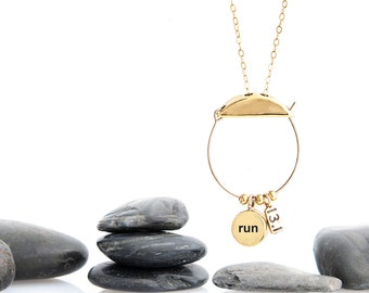 Runner race Charm Collection Necklace