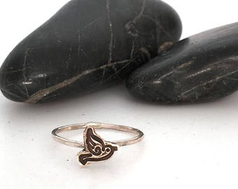 Tiny Cut out Charm Ring, Choose your symbol/material when checking out