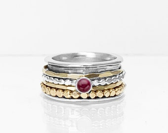 Ruby Mix Spinner ring