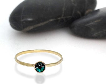 Emerald Swarovski Crystal Birthstone Ring
