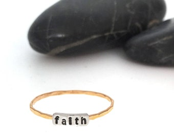 Faith Stacking Ring