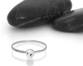 Diamond Swarovski Crystal Birthstone Ring