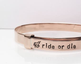 Unicorn Ride or Die Bracelet