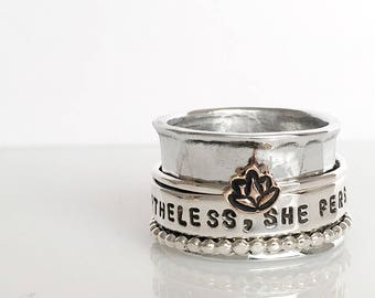 Nevertheless, She Persisted Spinner Ring