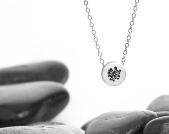 Small Dandelion Sliding Charm Necklace